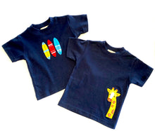 Load image into Gallery viewer, Boys Short Sleeve T-shirt | Surfboard Applique