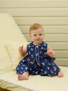Sailboat Button-Front Dress & Bloomer - Baby