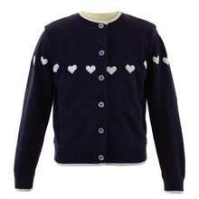 Load image into Gallery viewer, Girls Heart Intarsia Cardigan