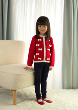 Load image into Gallery viewer, Girls Bow Cardigan