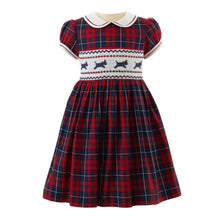 Load image into Gallery viewer, Girls Scottie Dog Smocked Dress