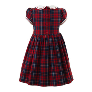 Girls Scottie Dog Smocked Dress