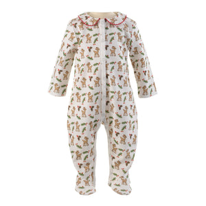 Baby Onsie | Winter Deer Pattern