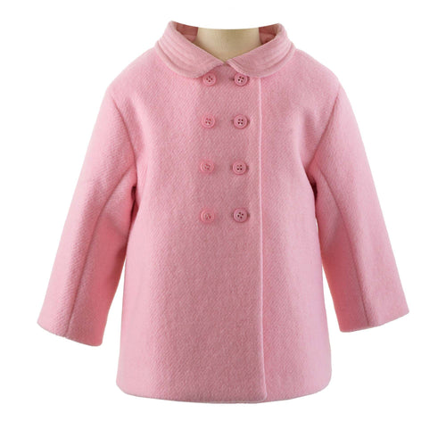 Velvet Trim Pram Coat | Pink or Blue