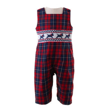 Load image into Gallery viewer, Boys Scottie Dog Smocked Romper