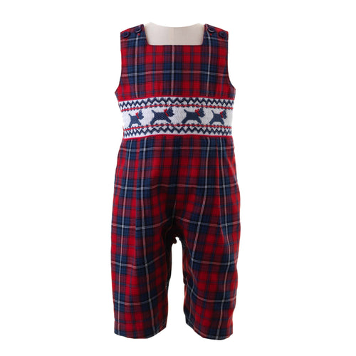 Boys Scottie Dog Smocked Romper