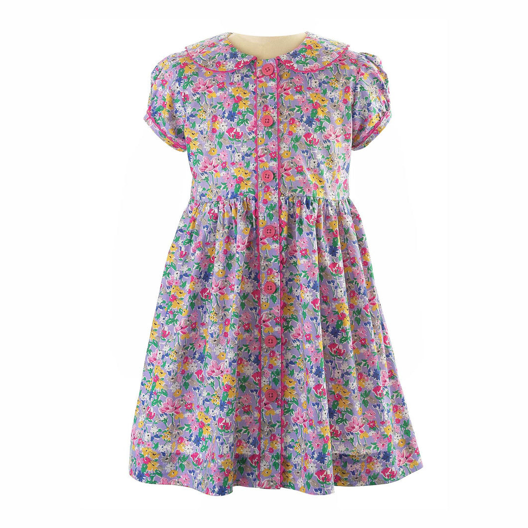 Garden Floral Button-Front Dress
