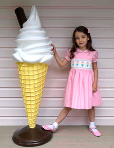 Ice Lolly Smocked Dress