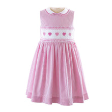 Load image into Gallery viewer, Heart Smocked Dress & Bloomers