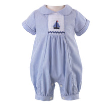 Load image into Gallery viewer, Sailboat Smocked Babysuit