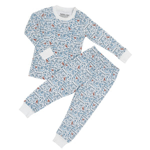 2 Piece Pajama Set | Beach Breeze Print