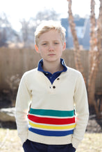 Load image into Gallery viewer, Boys Scott Sweater | White with Stripe