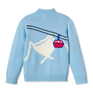 Boys Scott Sweater | Blue with Gondola