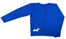 Load image into Gallery viewer, Unisex Cardigan | Blue with Scotty Dog