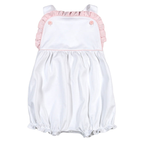 White with Pink Ruffle Sun Bubble
