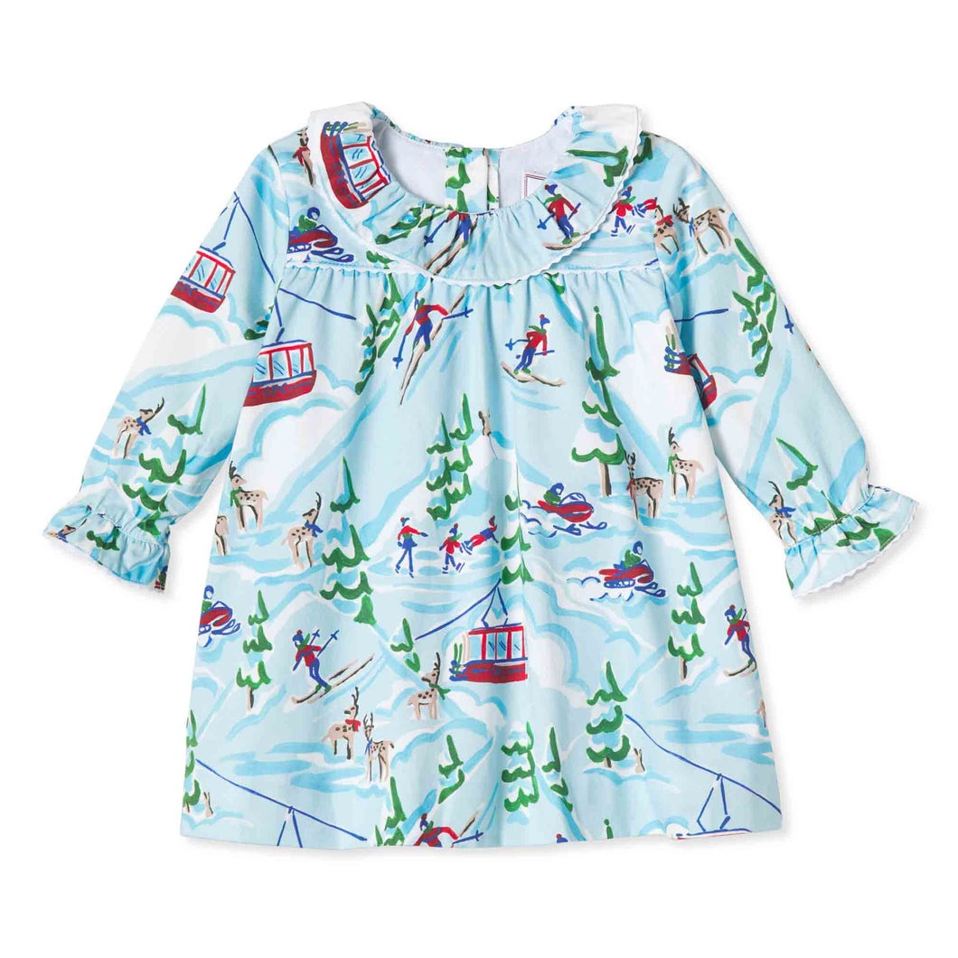 Girls Elsa Dress | Ski Lodge Print