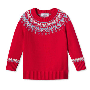 Girls Katrina Heart Fair Isle Sweater