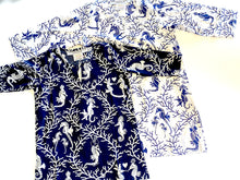 Load image into Gallery viewer, Blue & White Seahorse Girls Tunic