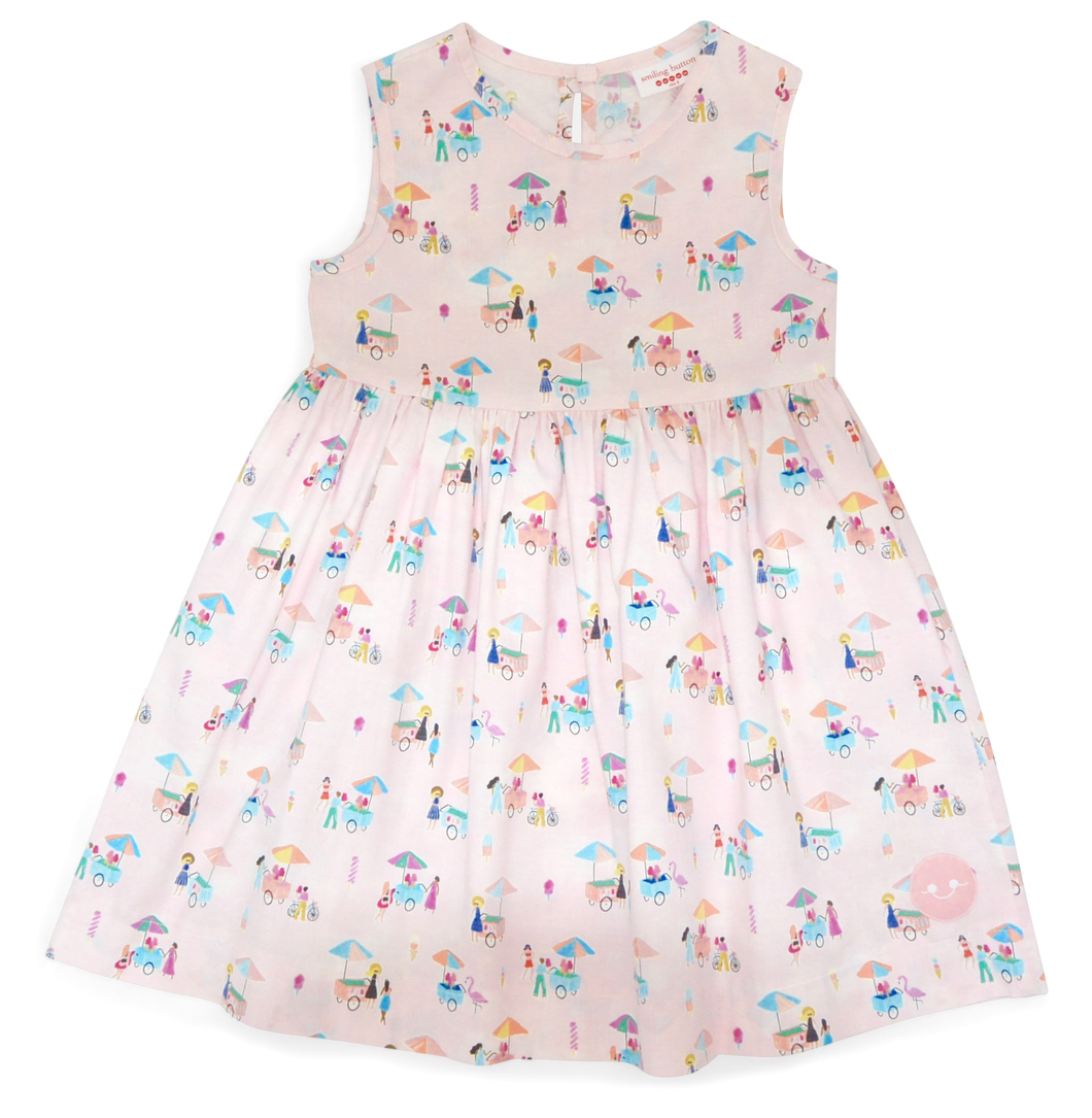 Pinny Dress | Ice Cream Print