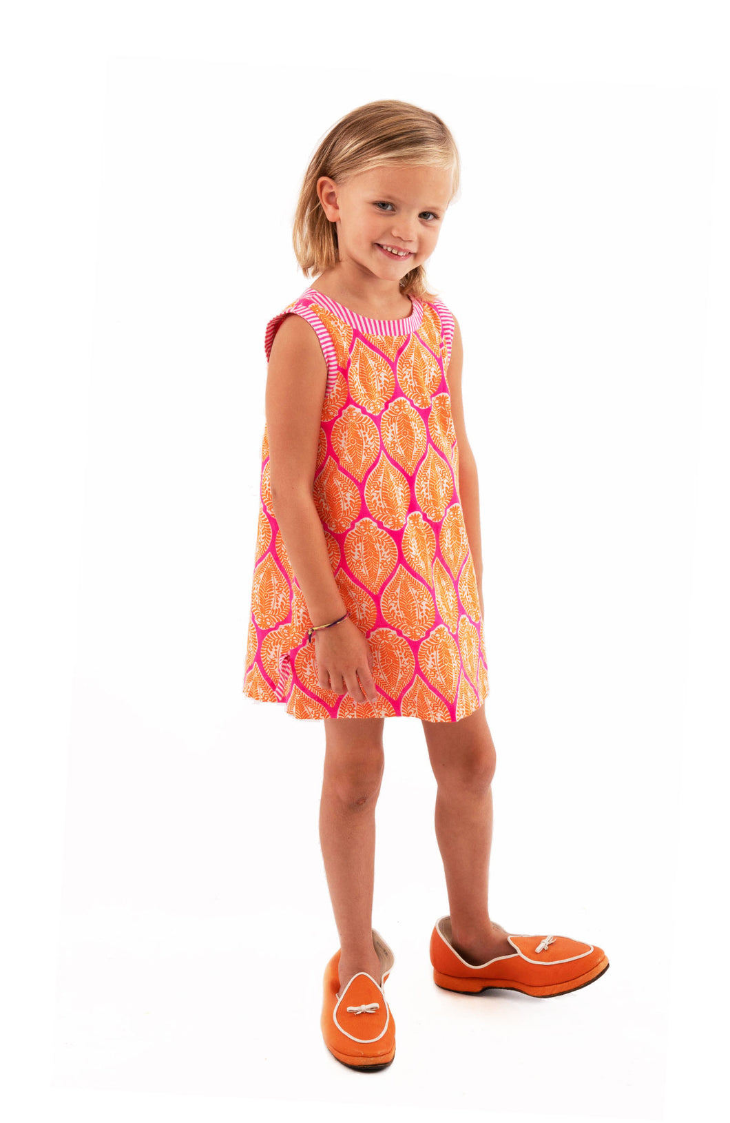 Indian Summer Pink & Orange Girls Dress