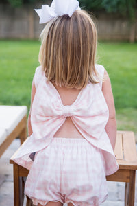 Knit Lottie Bloomer Set - Pink Gingham