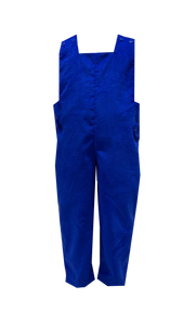 Boys Corduroy Longall | Royal Blue with Red Buttons and Tabs