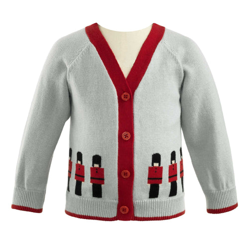 Boys Soldier Intarsia Cardigan