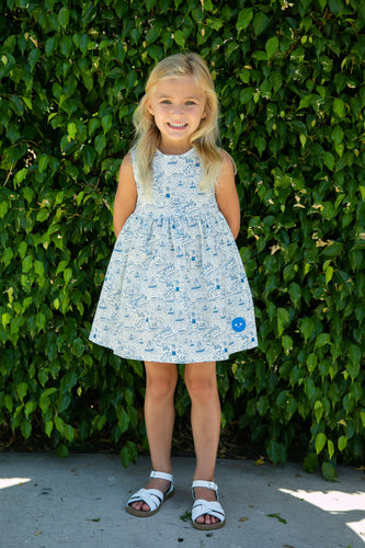 Pinny Dress | By the Sea Print