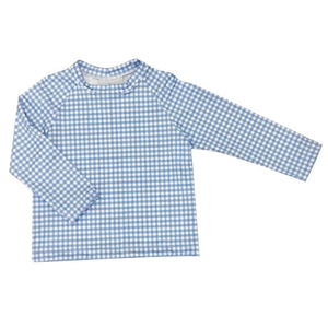Sammy Swim Rash Guard | Blue Gingham