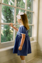 Load image into Gallery viewer, Girls Dress | Periwinkle with White Piping