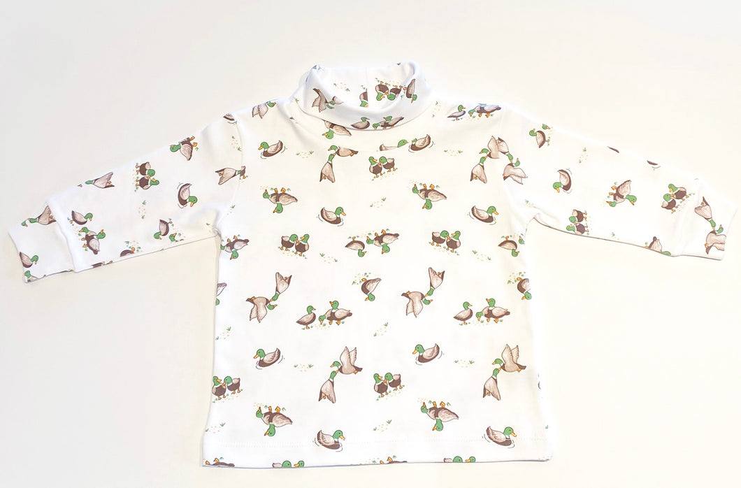 Boys Turtleneck | Mallard Print