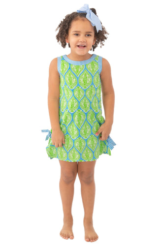 Indian Summer Blue & Green Girls Dress