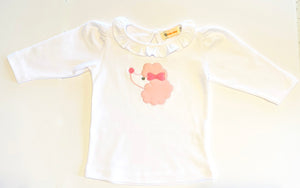 Girls Long Sleeve T-Shirt | Poodle Applique