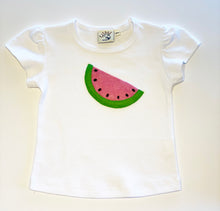Load image into Gallery viewer, Girl's T-shirt | Watermelon Applique