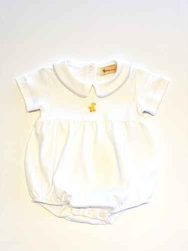 Baby Bubble | White with Duck Embroidery