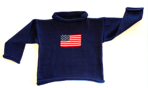 Toddler Sweater | Flag Intarsia