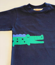 Load image into Gallery viewer, Boy's Long Sleeve T-shirt | Navy with Alligator