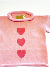 Load image into Gallery viewer, Girls Sweater | Heart Intarsia