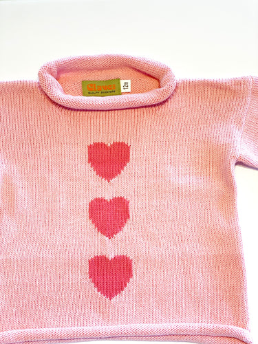 Girls Sweater | Heart Intarsia