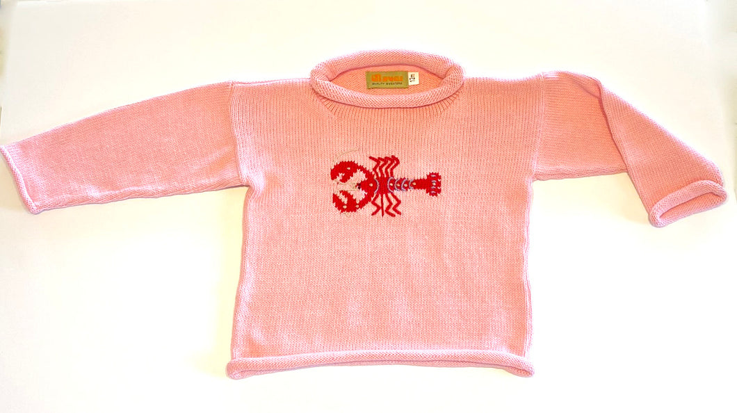 Girls Sweater | Lobster Intarsia