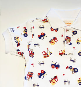 Boy's Polo Shirt | Truck Print