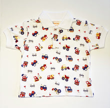 Load image into Gallery viewer, Boy's Polo Shirt | Truck Print