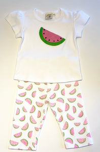 Girl's Capri Leggings | Watermelon Print