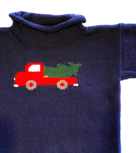 Toddler Sweater | Truck with Tree Intarsia