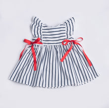 Load image into Gallery viewer, Navy and White Striped Dress