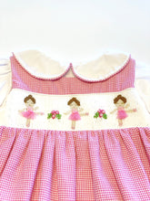 Load image into Gallery viewer, Smocked Ballerina Dress | Pink Houndstooth