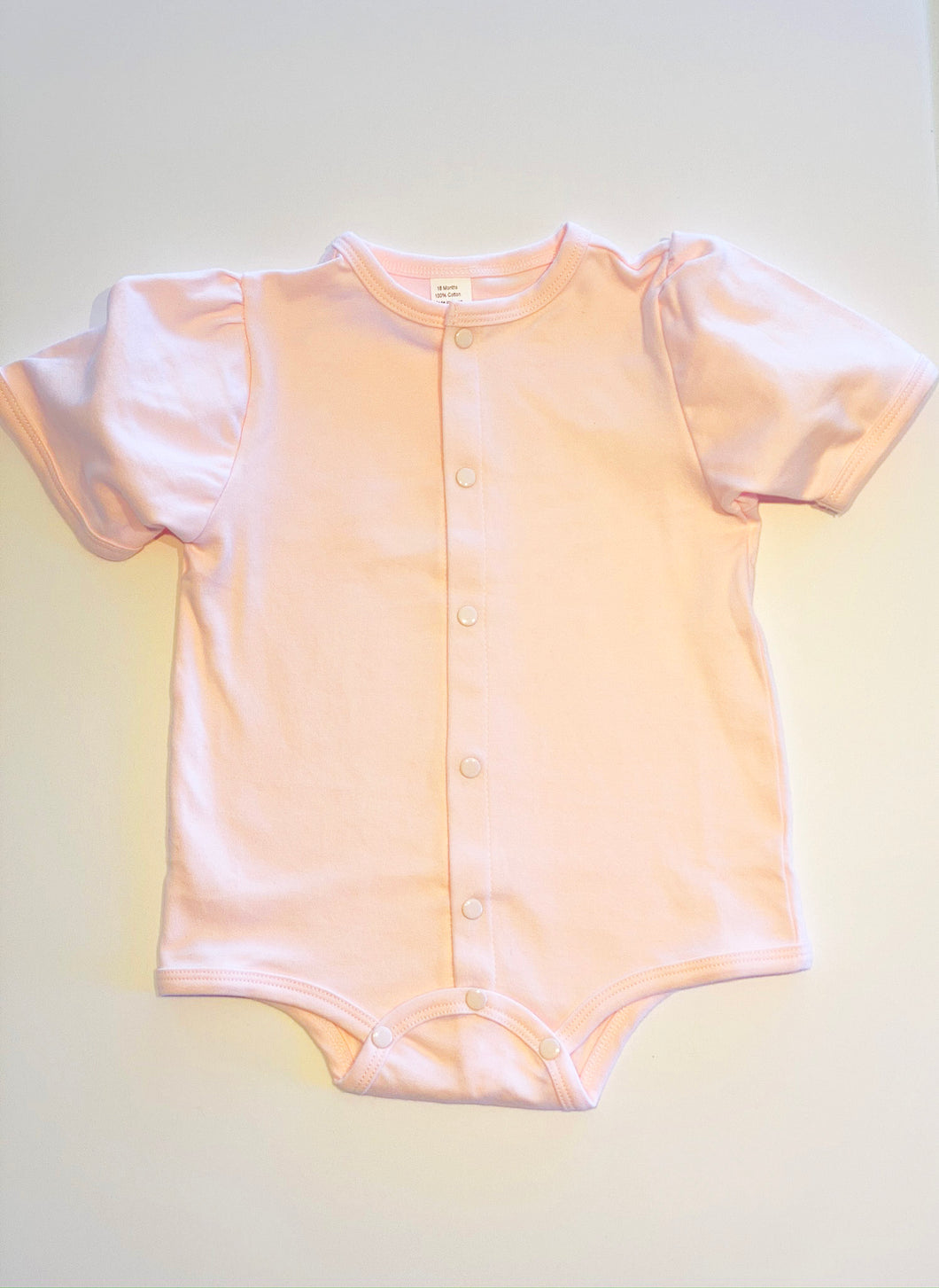 Baby Puff Sleeve Shirt - Pink