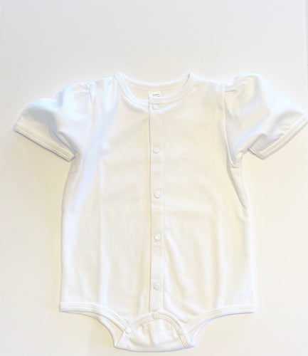 Baby Puff Sleeve Shirt - White