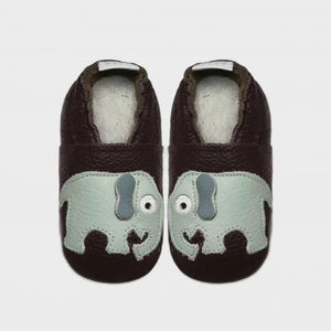 Pitta-Patta Elephant Rich Brown Baby Shoes