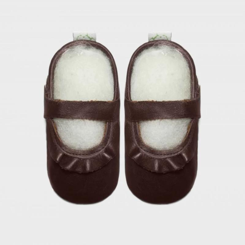 Pitta-Patta Mary Jane Frill Vintage Baby Shoes